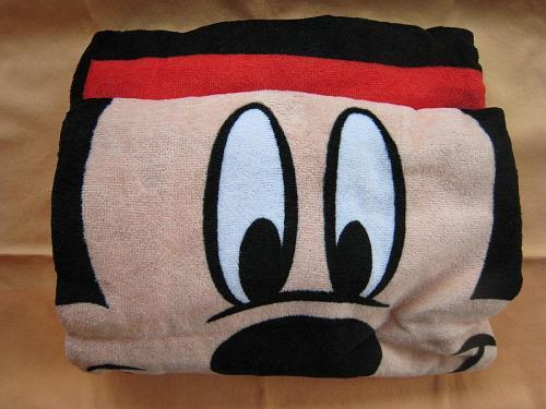 ミッキーマウスのバスタオル