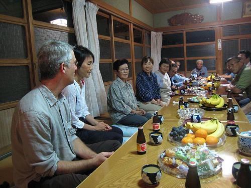 「神山に来てまだ少しだし、見ず知らずの自分たちをこんなにまで歓迎してくれるとは夢にも思いませんでした。ドウモアリガトウ・・・」