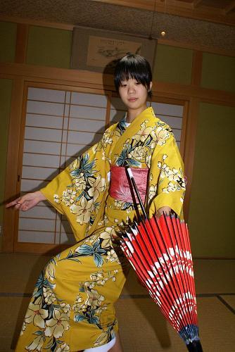 日本舞踊の披露