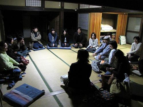 ヤマニハウスにて。神山町出身の女の子も含まれていて、頼もしく感じました。