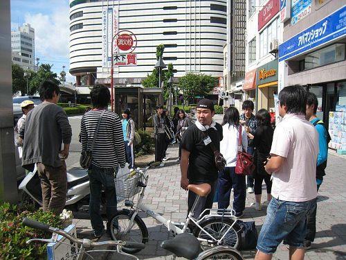 徳島駅前集合