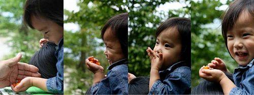 「はな」が目当ての岳人の森。でも、わたしは「ダンゴ」の方が・・・(笑) (写真提供:玉利康延氏)