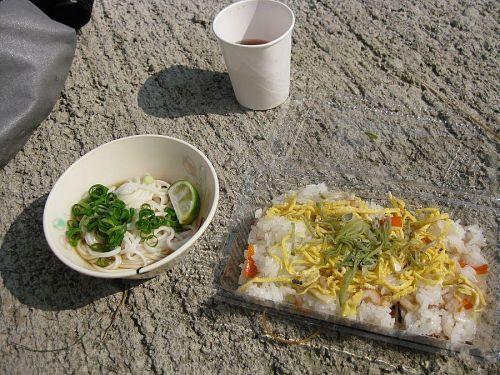 素麺とちらし寿司。めちゃめちゃ美味しかったです!!