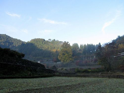 朝、早めに出かけると、情景が日の出とともに刻々変化。(2009年11月26日08:12 撮影)