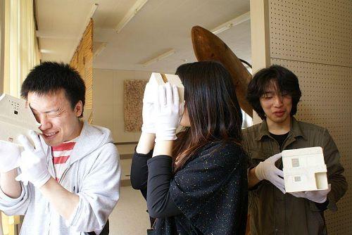 本日は、京都造形芸大生を案内。