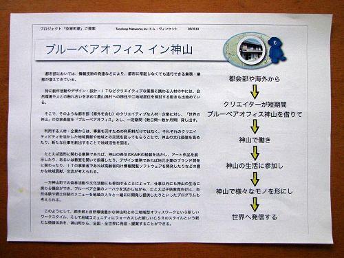 「ブルーベアオフィス イン神山」の提案書。実現へプロセスが明確で、時代を先取りする要素が満載!
