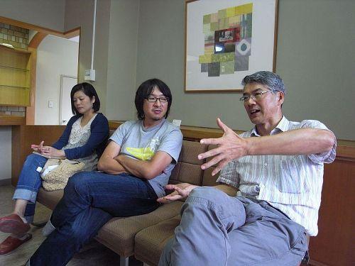 大南さんとトークゲストの杉田夫妻。活き活きしてます。