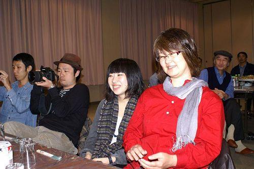京都造形大の山下先生もパーティーに来てくれました。
