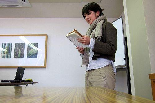 9月まで鳥取県のNPOで地域マネージャーをしていた安井仁美さん。(自分の歩む道を)探求中」。