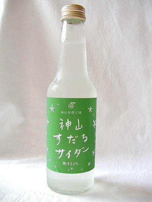 果汁3.3% 250ml 純粋神山すだち使用。