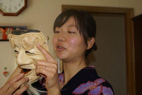 黒蕨さんの奥さんの能面も観賞。