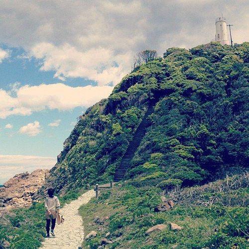 四国最東端、蒲生田岬にて。ドラクエの風景のような灯台。