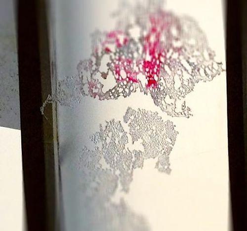 下川さんの、光の透過する作品