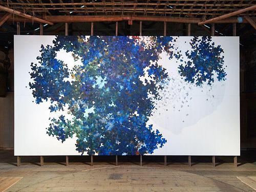 """内海聖史 """"仰望の色"""" 2007   ©2007神山アーティスト・イン・レジデンス"""