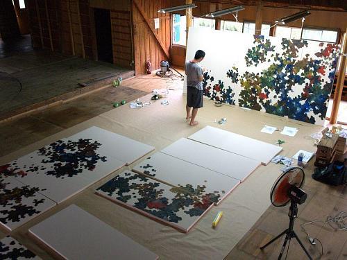 劇場「寄井座」にて、制作風景 (2007)