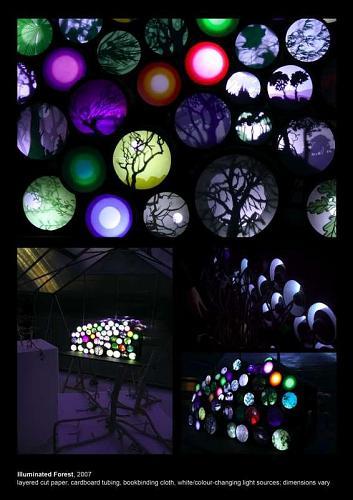 "Charlotte McGowan-Griffin ""Illuminated Forest"" 2007"