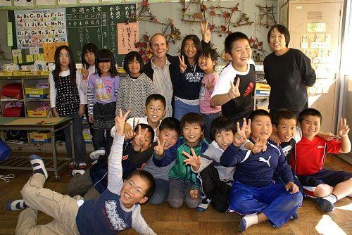 最後はそれぞれの教室で記念写真。