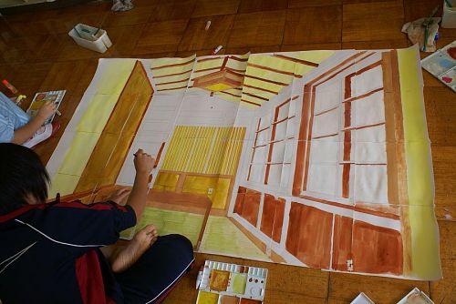 授業のテーマは、「窓から見た部屋の中」です。