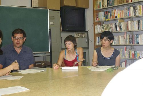 作家と実行委員との顔合わせ。